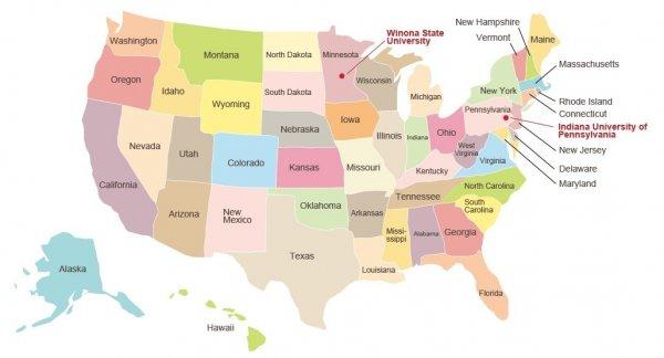 美国地图 map of the united states